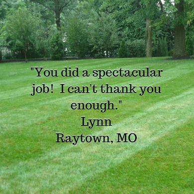Lawn Service Testimonial